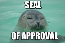 Seal of Approval.