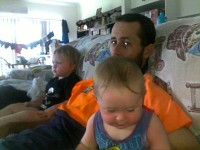 Me and my 2 sons Jared and Callum.