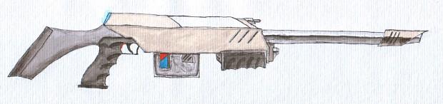 Harpy battlesuit EMP-rifle