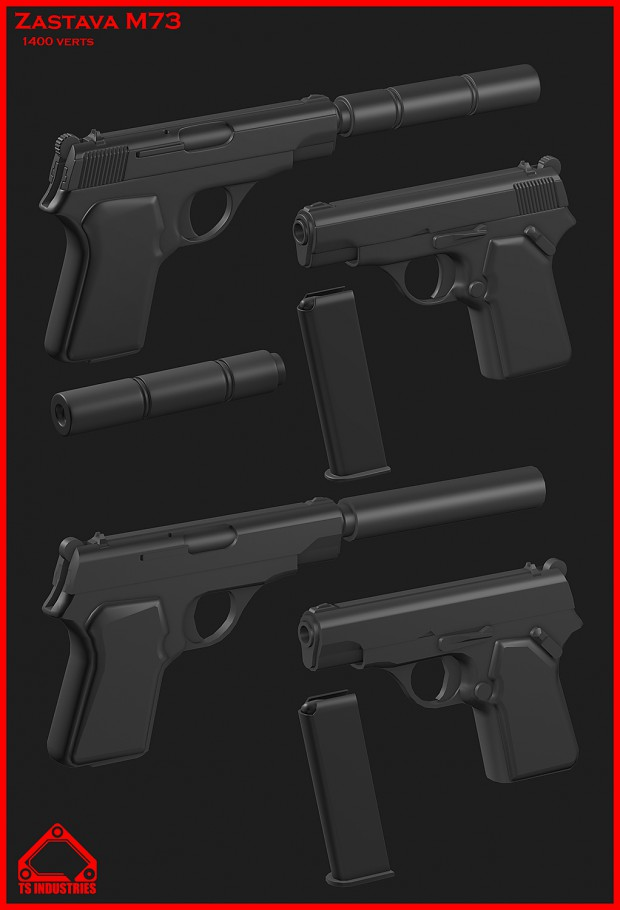 Zastava m70 low and highpoly models