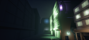 Cyberpunk Style City Alley