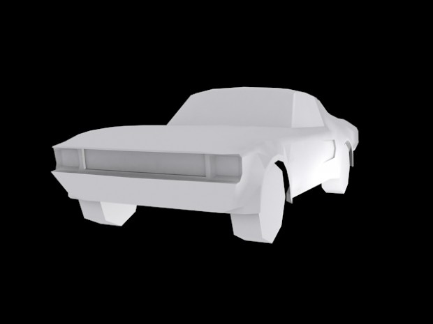 Low Poly 1968 Ford Mustang Fastback