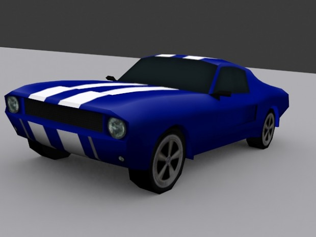 Mustang Fastback Texture WIP