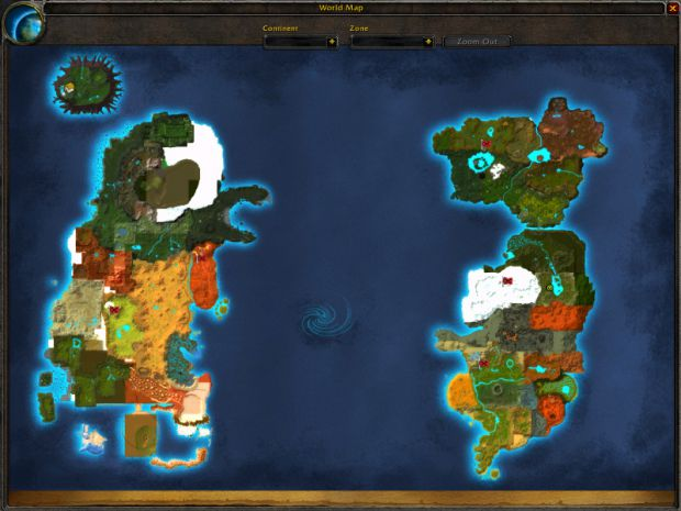 World of Warcraft Alpha Map