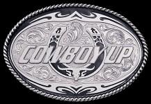 Cowboy Up! Buckle