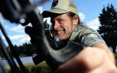 Ted Nugent with a Bow