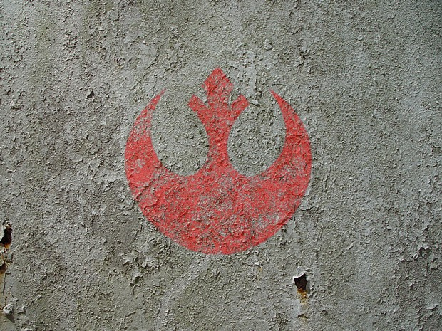 Rusting Rebel Insignia