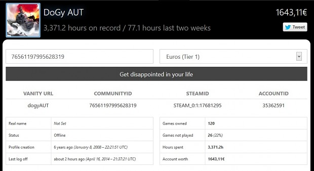 How much is your Steam account worth?