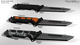 BJ-2 Combat Knife Textured