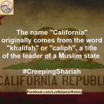 about the name of california