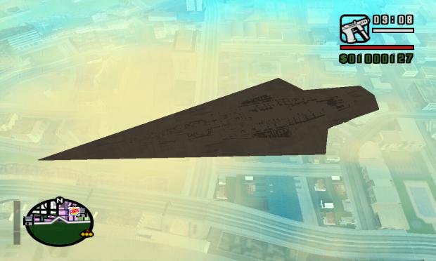 Super Star Destroyer over San Andreas