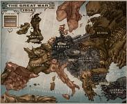 World War I Caricature Map