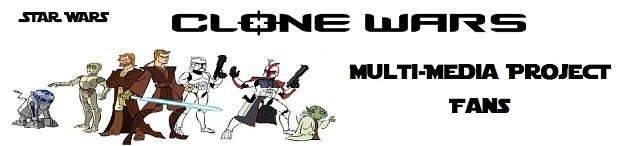 Clone Wars Multi-Media Project Fan's Banner