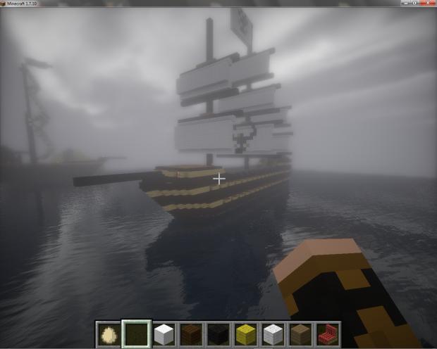 SMS Willhelm Sailing Into Port