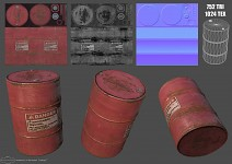Metal red barrel