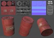 Metal red barrel