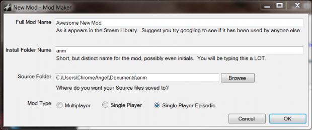 ModMaker New Mod Wizard