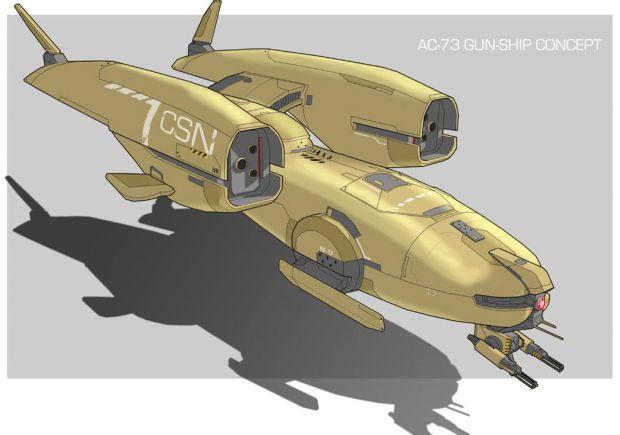"""CSN GC-11 """"Halbeard"""" Gunship"""