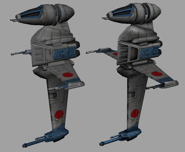 B-Wing Texture Compare