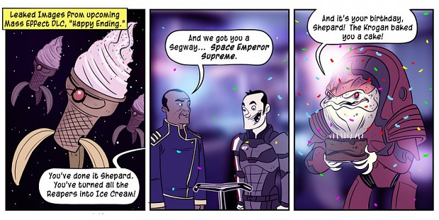 How mass effect 3 should have ended...