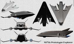 M75b Prototype Spacecraft