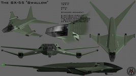 "The SX-55 ""Swallow"" Gunship"