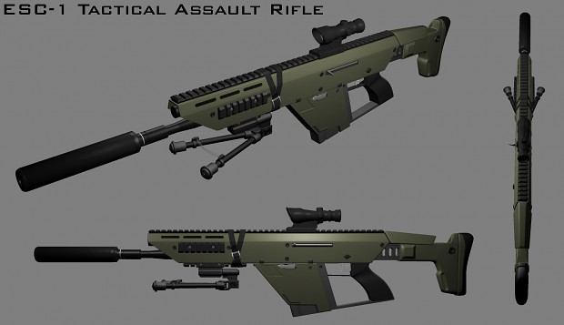 ESC-1 Tactical Assault Rifle (Untextured)