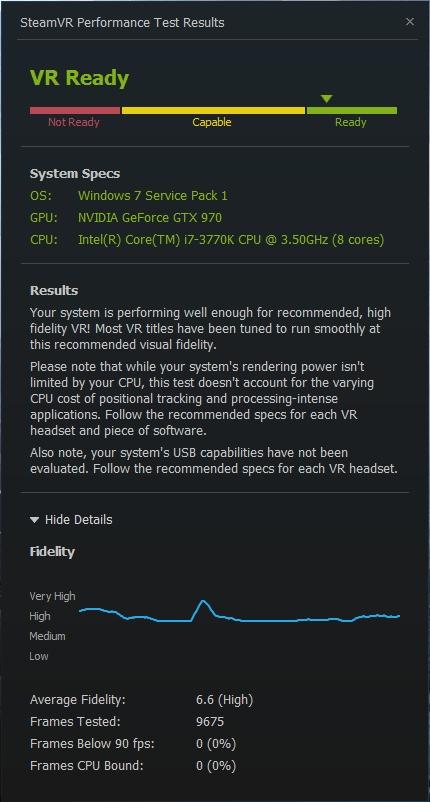 SteamVR Hardware Test