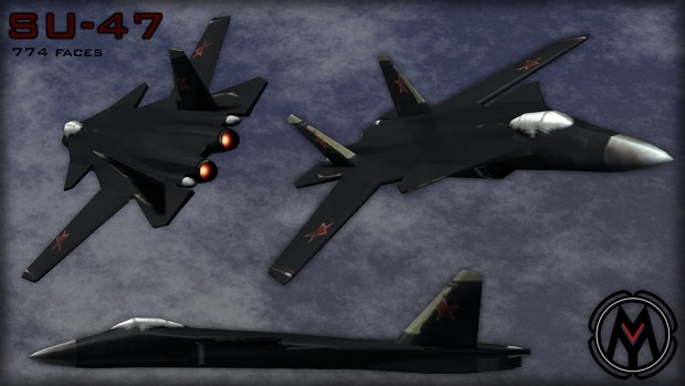 Lowpoly Su-47