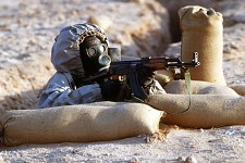 Syrian Soldier In Chemical Warfare Drill