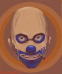 clown spy bleached headshot
