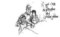 Family Portrain Clean Sketch