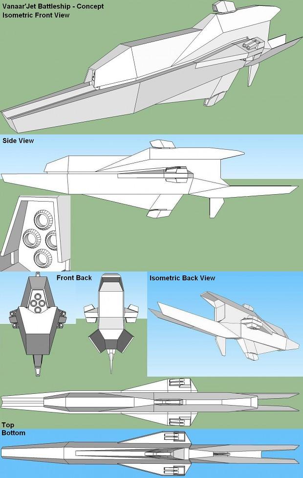 Vanaar'Jet Battleship Concept