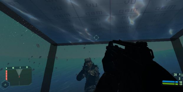 Underwater in the cryengine.