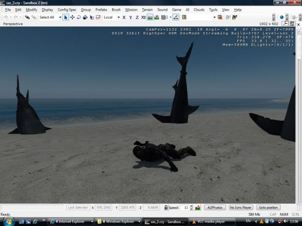 Crysis Glitches in the editor