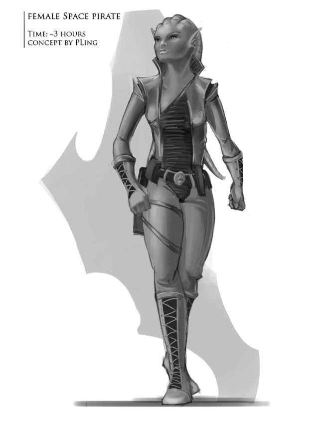 Female Space Pirate Concept