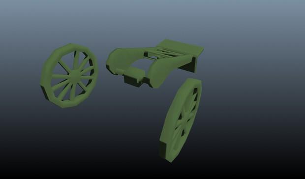 Wheel+handle Minenwerfer