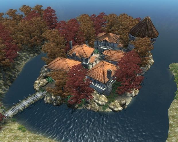 Building Sachsmoor Island