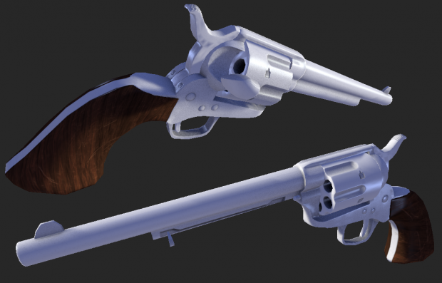 Lowpoly Colt SAA - wip textures