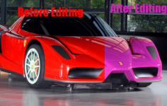 Ferrari Colour Change - Photoshop Art