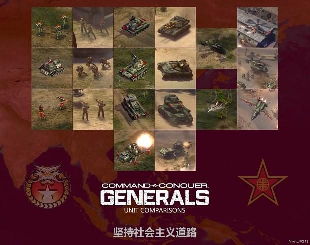 Generals Unit Comparison