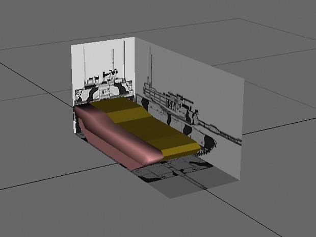 Me modelling M1A2 Abrams