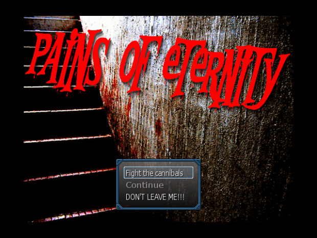 Title screen for Pains of Eternity
