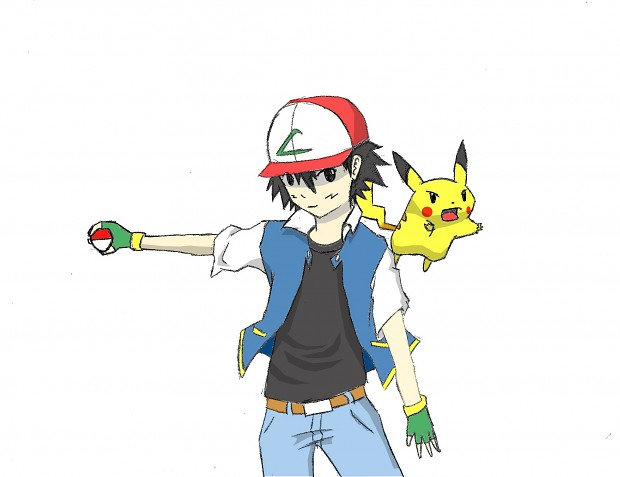 Ash Ketchum drawing
