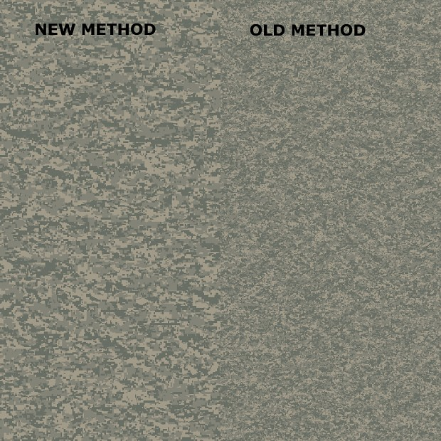 Old Digital Camo method vs New Method