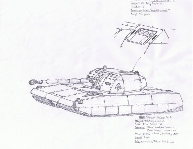 M86A1 'Hanson' Medium Battle Tank
