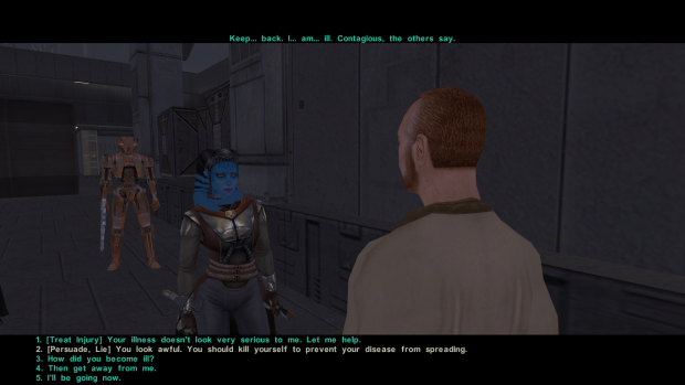 Kotor 2 Funny dialogue option