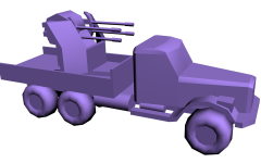 Quad KrAZ with all boxes