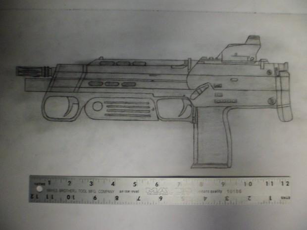 Combine MP7 concept art