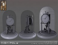 Clock High Poly - Older work